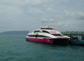 Filipíny, cesta lodí z ostrovu Bohol do města Cebu. Tam je totiž pobočka FedEx.
